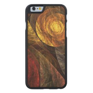 El espiral del arte abstracto de la vida funda de iPhone 6 carved® slim de arce