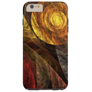 El espiral del arte abstracto de la vida funda de iPhone 6 plus tough