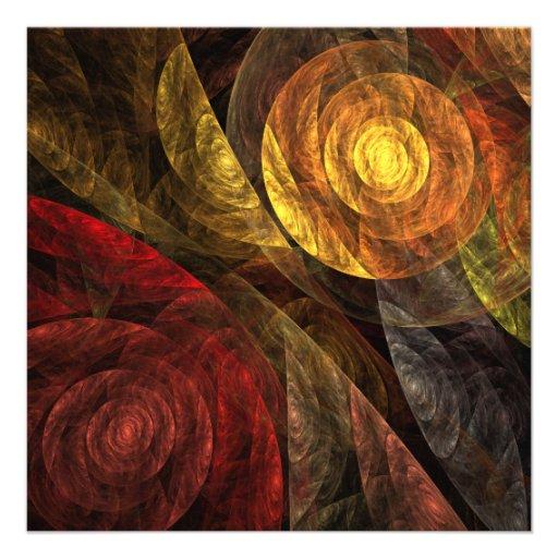 El espiral del arte abstracto de la vida comunicado personal