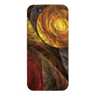 El espiral del arte abstracto de la vida iPhone 5 funda
