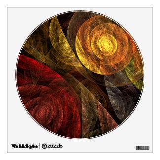 El espiral del círculo del arte abstracto de la vi vinilo adhesivo