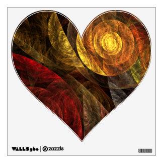 El espiral del corazón del arte abstracto de la vi vinilo adhesivo