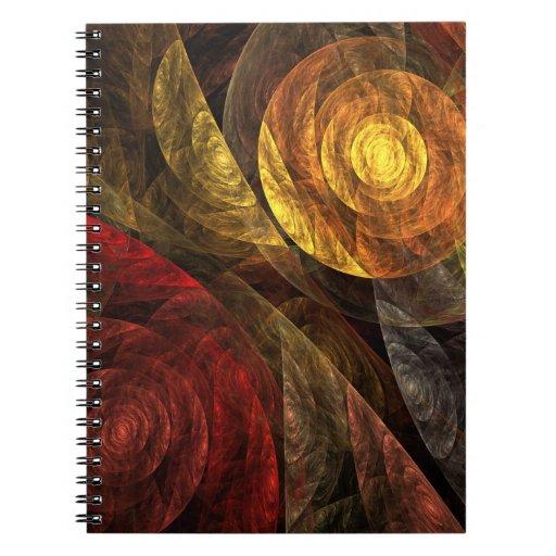 El espiral del cuaderno del arte abstracto de la