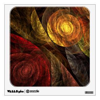El espiral del cuadrado del arte abstracto de la v vinilo decorativo