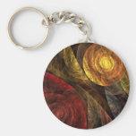 El espiral del llavero del arte abstracto de la vi