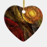 El espiral del ornamento del corazón del arte adorno