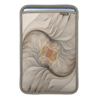 El espiral floral abstracto poner crema principal fundas macbook air