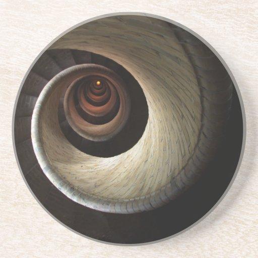 El espiral hacia abajo de Uzumaki Posavasos Para Bebidas