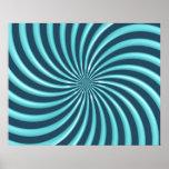 El espiral óptico del arte curva el triángulo 07 impresiones