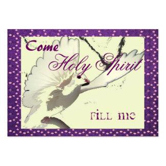 El Espíritu Santo me llena tarjeta Tarjeta De Visita