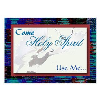 El Espíritu Santo, me utiliza… tarjeta Plantilla De Tarjeta De Visita