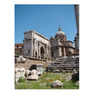 El esplendor del foro romano postal