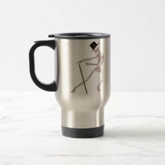El esqueleto del baile tazas de café