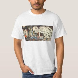 El esqueleto espectral convoca a la camiseta poleras