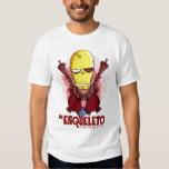 EL Esqueleto: La camiseta esquelética Playera