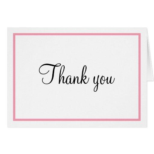 El esquema rosado le agradece las tarjetas