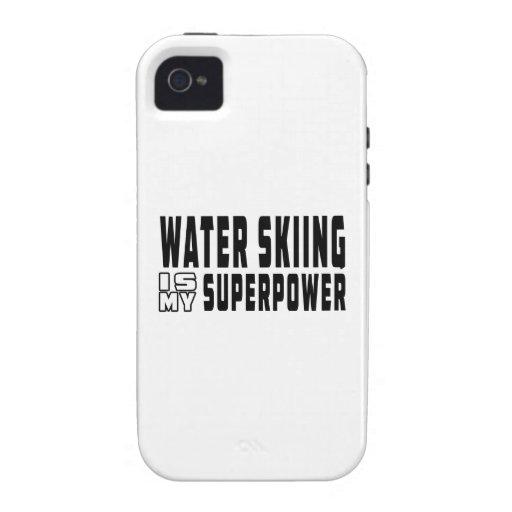 El esquí acuático es mi superpotencia vibe iPhone 4 carcasas