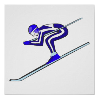 El esquí azul ayuna póster