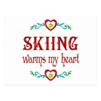 El esquí calienta mi corazón tarjetas postales