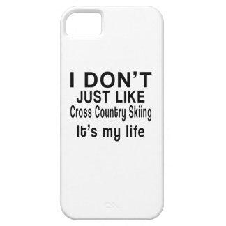 El esquí del campo a través ES MI VIDA iPhone 5 Carcasa