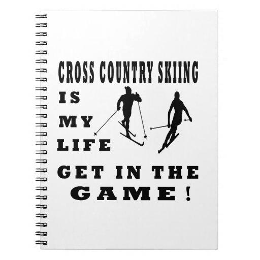 El esquí del campo a través es mi vida cuaderno
