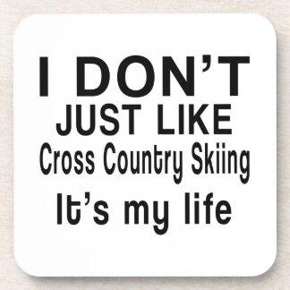 El esquí del campo a través ES MI VIDA Posavasos De Bebida