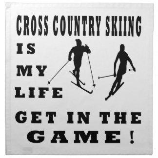 El esquí del campo a través es mi vida servilletas imprimidas