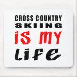 El esquí del campo a través es mi vida alfombrilla de raton