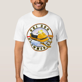 El esquí del vintage snowmobile camisas