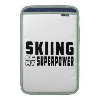El esquí es mi superpotencia fundas macbook air