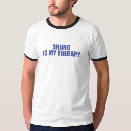 El esquí es mi terapia camisas