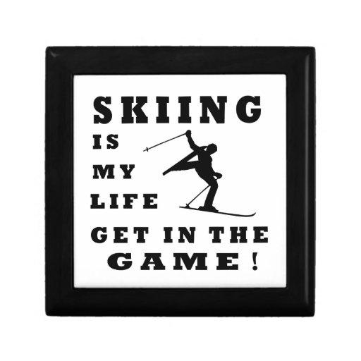 El esquí es mi vida cajas de joyas