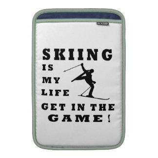 El esquí es mi vida fundas para macbook air