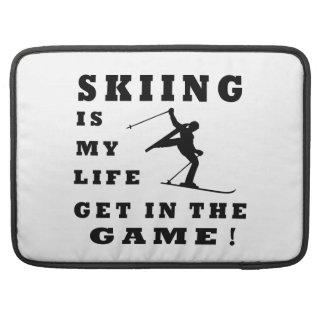 El esquí es mi vida funda para macbook pro
