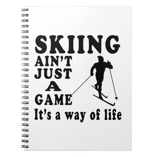 El esquí no es apenas un juego que es una manera d cuadernos