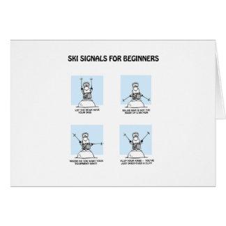 el esquí señala la tarjeta-uno