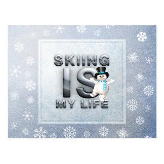 El esquí SUPERIOR es mi vida Tarjeta Postal