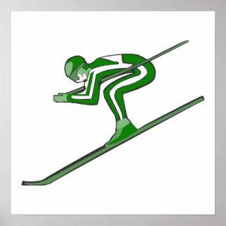 El esquí verde ayuna póster
