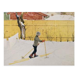 El esquiador, c.1909 postales