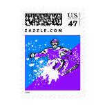 El esquiador del esquí del esquí del arte pop sello postal