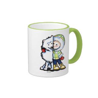 El esquimal besa invierno taza de café