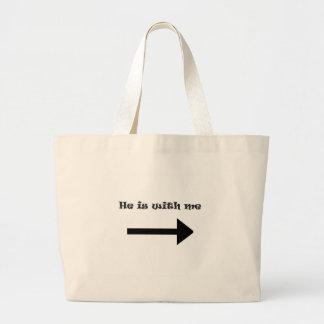 Él está conmigo bolsas
