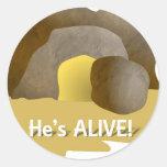 ¡Él está vivo! Pegatina Redonda