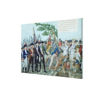 El establecimiento de un árbol de la libertad, c.1 impresiones de lienzo