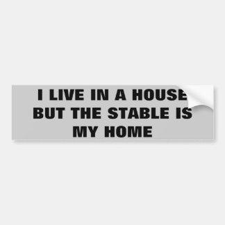 El establo es mi hogar.  Remolque del caballo Pegatina Para Auto