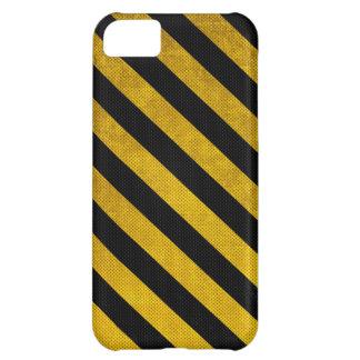 El estacionamiento amarillo y negro raya la caja d funda para iPhone 5C