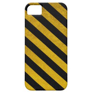 El estacionamiento amarillo y negro raya la caja iPhone 5 fundas