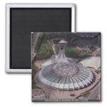 El estadio Olímpico, Montreal, Quebec, Canadá Imán De Frigorífico