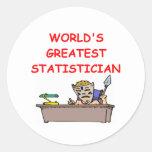 el estadístico más grande del mundo pegatinas
