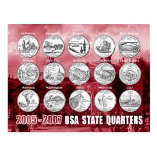 El estado de los E E U U cuartea las monedas 20